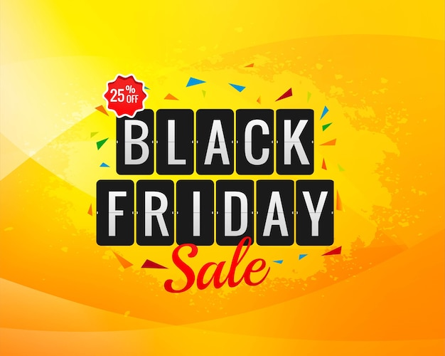 Black friday sale banner for poster background