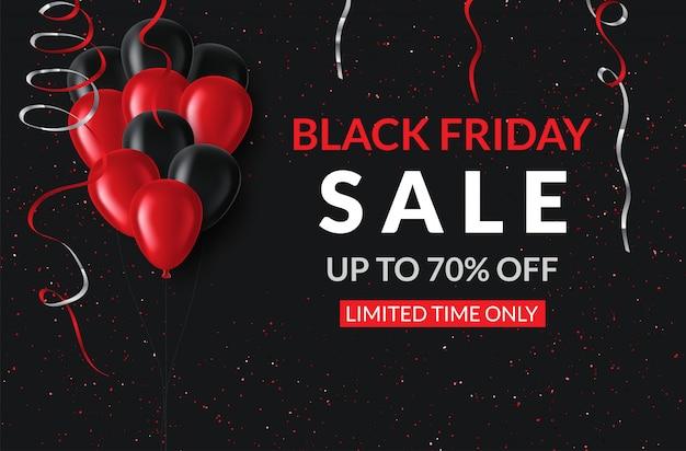 Black friday sale. banner, poster on dark