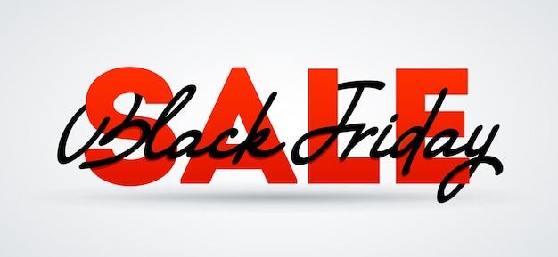 Black friday sale banner. sale and discounts. vector poster illustration.black friday sale lettering calligraphy card.