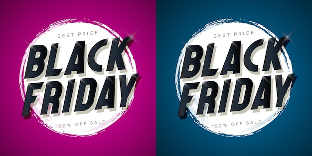 Black friday sale banner set