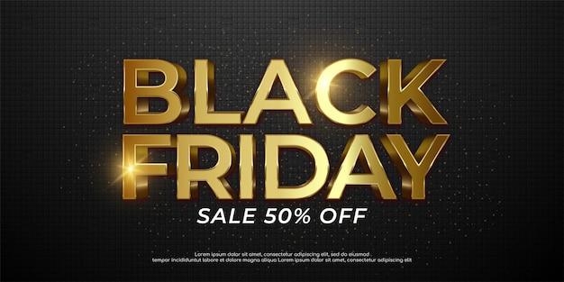 Black friday sale banner template illustration