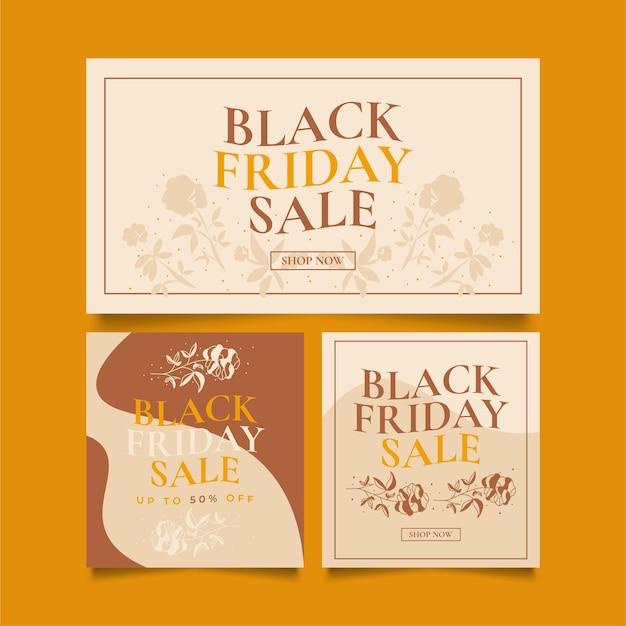 Black friday sale banner template. sale promotion poster or banner layout design for website or mobile
