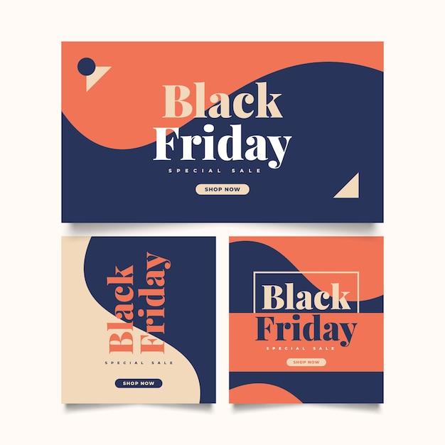 검은 금요일 판매 배너 템플릿입니다. 웹사이트 또는 모바일을 위한 판매 프로모션 포스터 또는 배너 레이아웃 디자인
