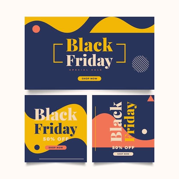 Черная пятница продажа баннер шаблон. рекламный плакат или дизайн баннера для веб-сайта или мобильного телефона