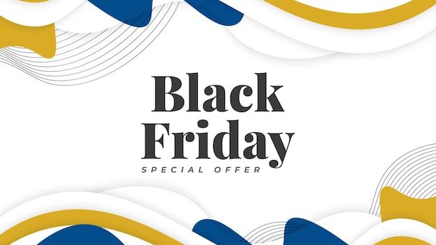 Черная пятница продажа баннер шаблон. рекламный плакат или дизайн баннера для веб-сайта или мобильного телефона Premium векторы