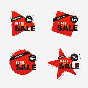 Черная пятница продажа баннеров набор шаблонов