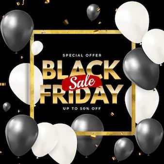 Black friday sale banner template. vector illustration eps10