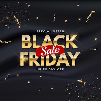 Черная пятница продажа баннер шаблон. векторные иллюстрации