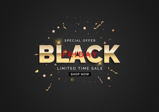 Black friday sale banner template. vector illustration
