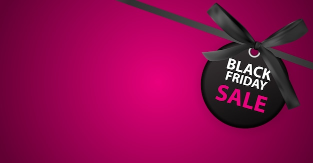 Black friday sale banner template.
