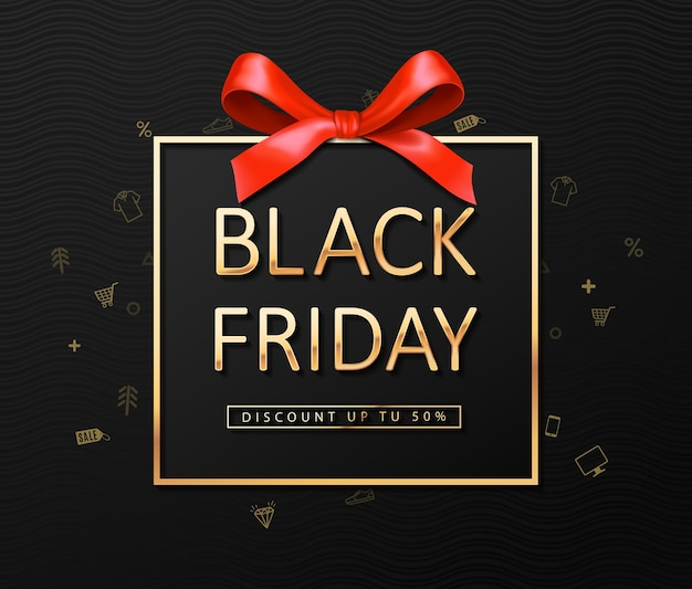 Black friday sale, banner template