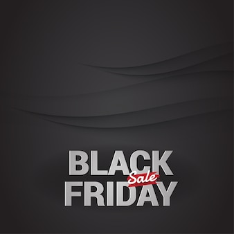 Black friday sale banner vector.