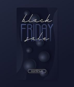 블랙 프라이데이 판매 배너, 모바일 소셜 미디어용 수직 디자인