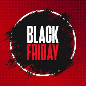 Black friday sale banner with abstract brush