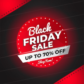 Black friday sale banner with abstract shapes vector