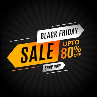 Black friday sale banner with arrow style modern