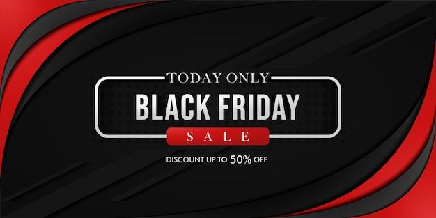 Black friday sale banner with black background