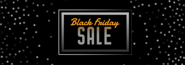 Black friday sale banner with circles shape