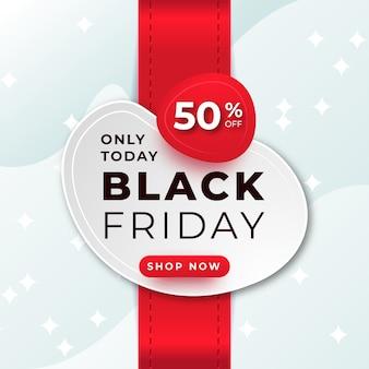 Черная пятница распродажа баннер со скидкой для веб-сайта и социальных сетей