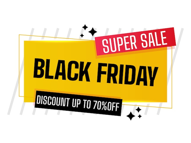 Black friday sale banner with discount details