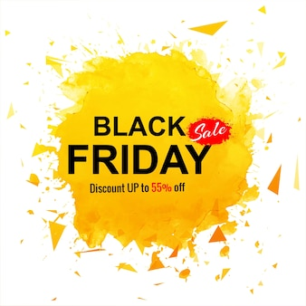 Black friday sale banner with orange splash