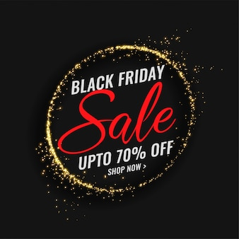 Black friday sale banner with sparkles frame