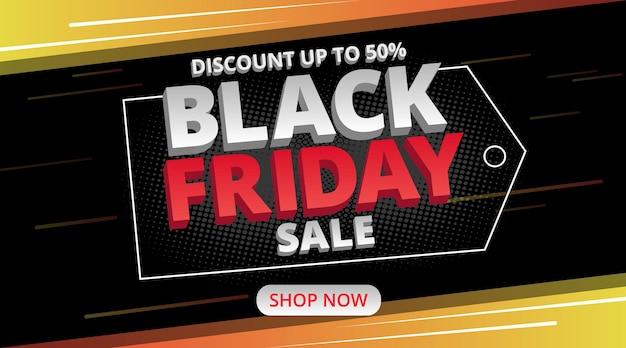 Black friday sale banner with speed light illustration