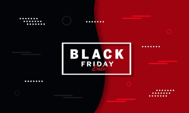 Black friday sale banner with white geometric elements