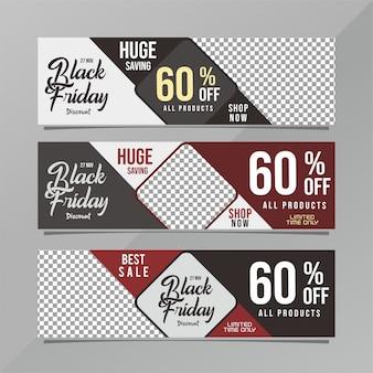 Черный рекламный баннер пятницы.