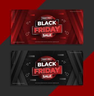 Черная пятница продажа баннеров в современном дизайне