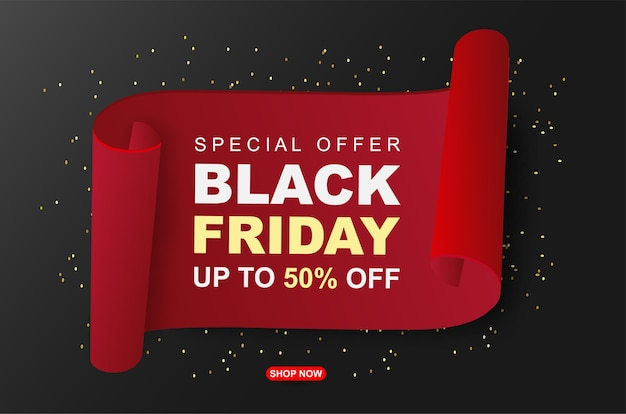 Black friday sale banners template