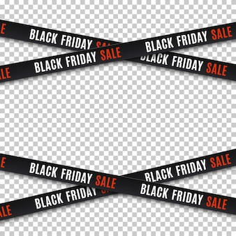 Black friday sale banners. warning tapes, ribbons . template for brochure, poster or flyer.