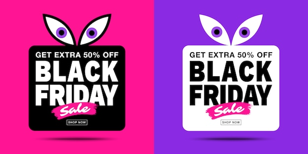 Black friday sale banners. Premium Vector