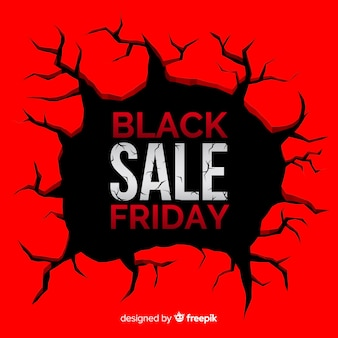 Black friday sale black and red background