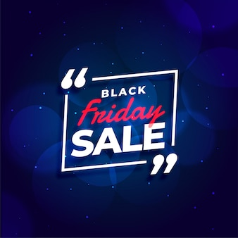Black friday sale blue banner template