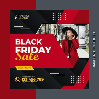 검은 금요일 판매 번들 제공 디자인 동적 모양 배너 템플릿 및 소셜 미디어 게시물 프리미엄 벡터