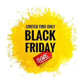 Black friday sale card for splash
