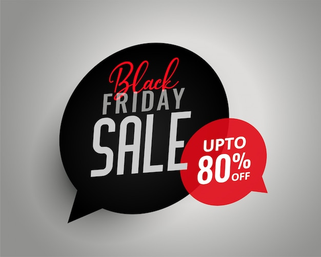 Black friday sale chat bubble template