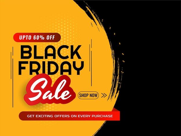 Offerte di vendita del black friday e offerta di sfondo moderno