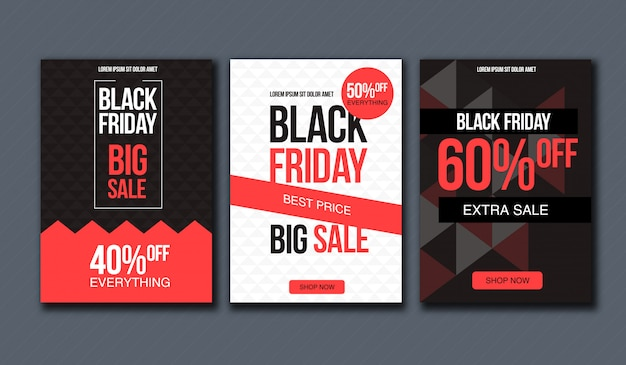 Black friday sale design template. conceptual layout for banner and print.