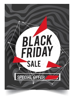 Black friday sale design template with modern and simple design.