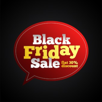 Black friday sale editable text on speech bubble background -