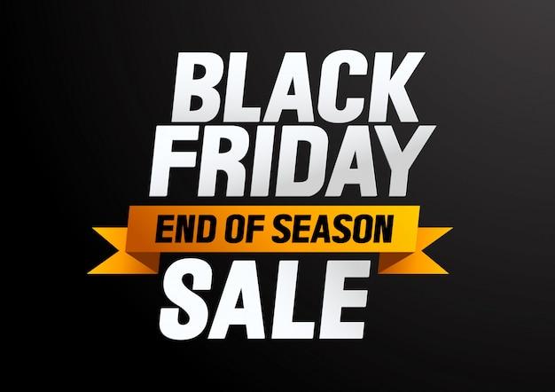 Black friday sale end of season
