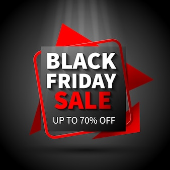 Black friday sale flat design banner template Free Vector