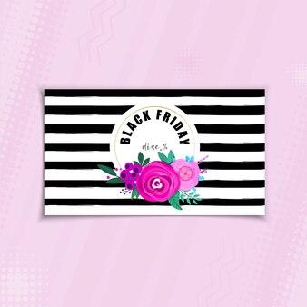 Black friday, sale flower banner