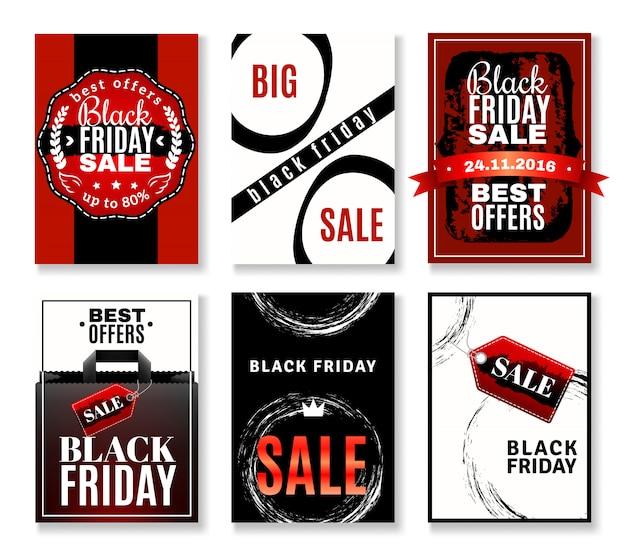 Raccolta di volantini vendita venerdì nero