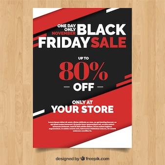 Black friday sale geometrical flyer