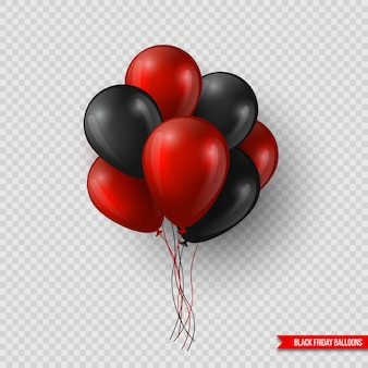 Black friday sale glossy balloons.