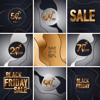 Black friday sale gold glitter background. black shine gold sparkles background. super friday sale logo for banner, web, header and flyer, design.