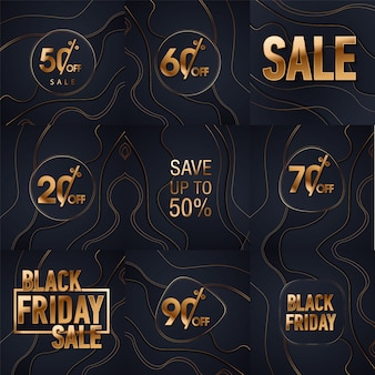 Black friday sale gold glitter background. black shine gold sparkles background.